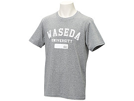 Front Top view of Tシャツ(早稲田), グレーモク