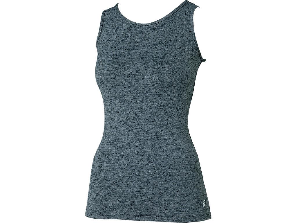 W'S肩バランスアップ®NSシャツ:ブラック杢