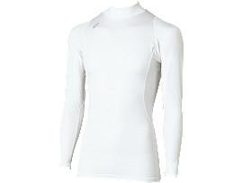 ハイネックロングスリーブシャツ, ホワイト