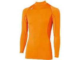 ハイネックロングスリーブシャツ, オレンジ