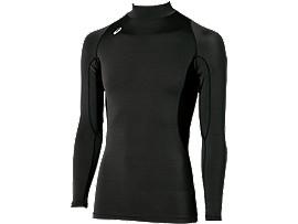 ハイネックロングスリーブシャツ, ブラック