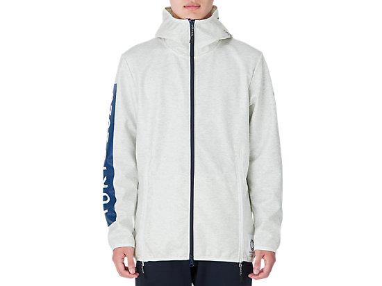 ラミネートニットジャケット(東京2020オリンピックエンブレム), ホワイト杢