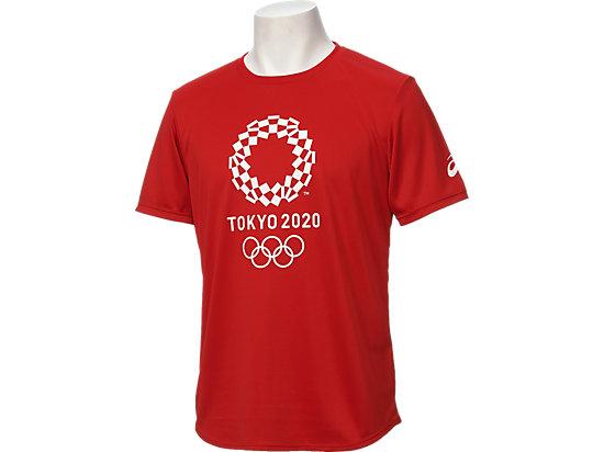 Tシャツ(東京2020オリンピックエンブレム), レッド