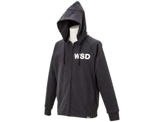 WSDフルジップスウェットパーカ, ブラック