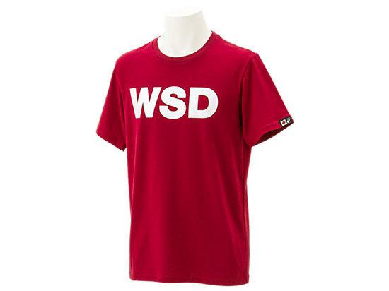 WSDシャツ半袖, エンジ