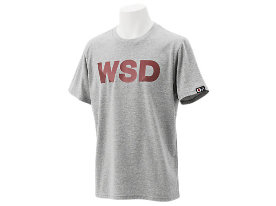 WSDシャツ半袖, グレー杢