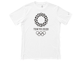 Front Top view of Tシャツ(東京2020オリンピックエンブレム), ホワイト