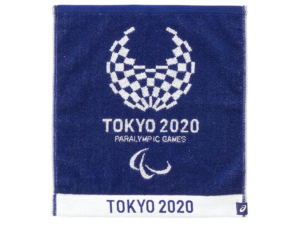 【ASICS/アシックス】 ジャカードハンドタオル(東京2020パラリンピックエンブレム) EMネイビー_XA538X