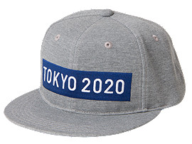 Front Top view of キャップ(東京2020オリンピックエンブレム), グレーモク