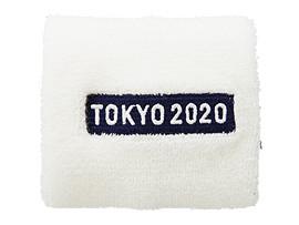 Front Top view of リストバンド(東京2020パラリンピックエンブレム), ホワイト