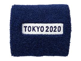 Front Top view of リストバンド(東京2020パラリンピックエンブレム), EMネイビー
