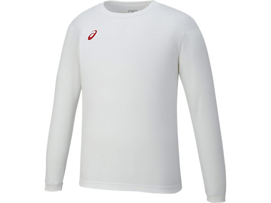 ロングスリーブシャツ, ホワイトxレッド