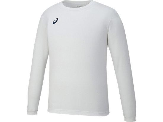 ロングスリーブシャツ, ホワイト×ネイビー