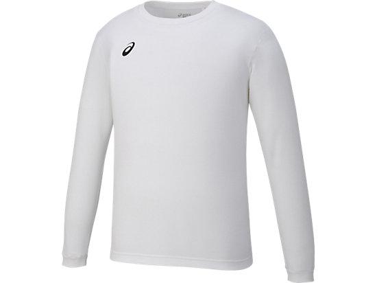 ロングスリーブシャツ, ホワイトxブラック