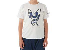 マスコットTシャツKids(東京2020オリンピックエンブレム), ホワイト