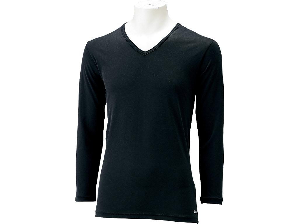 【ASICS/アシックス】 モーションサーモロングスリーブシャツ ブラック_XA8000