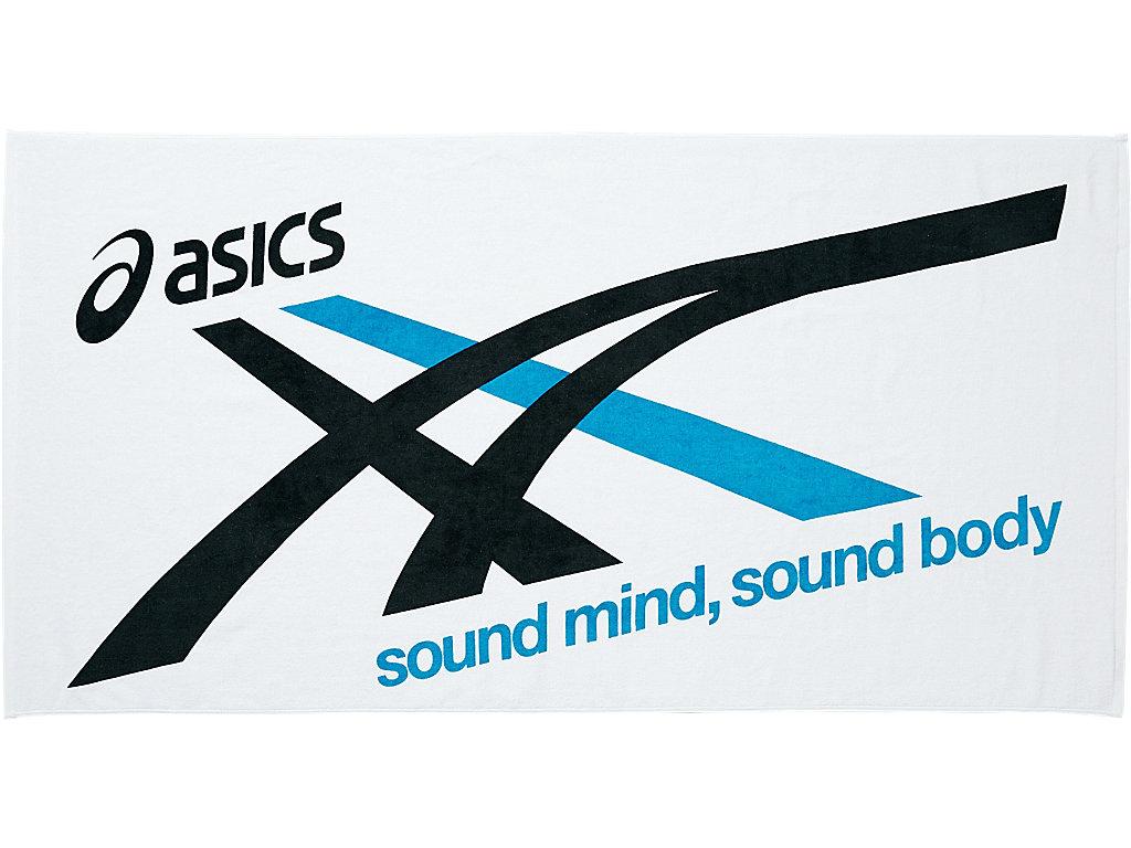【ASICS/アシックス】 バスタオル ブラックxアクアブルー_XAL134