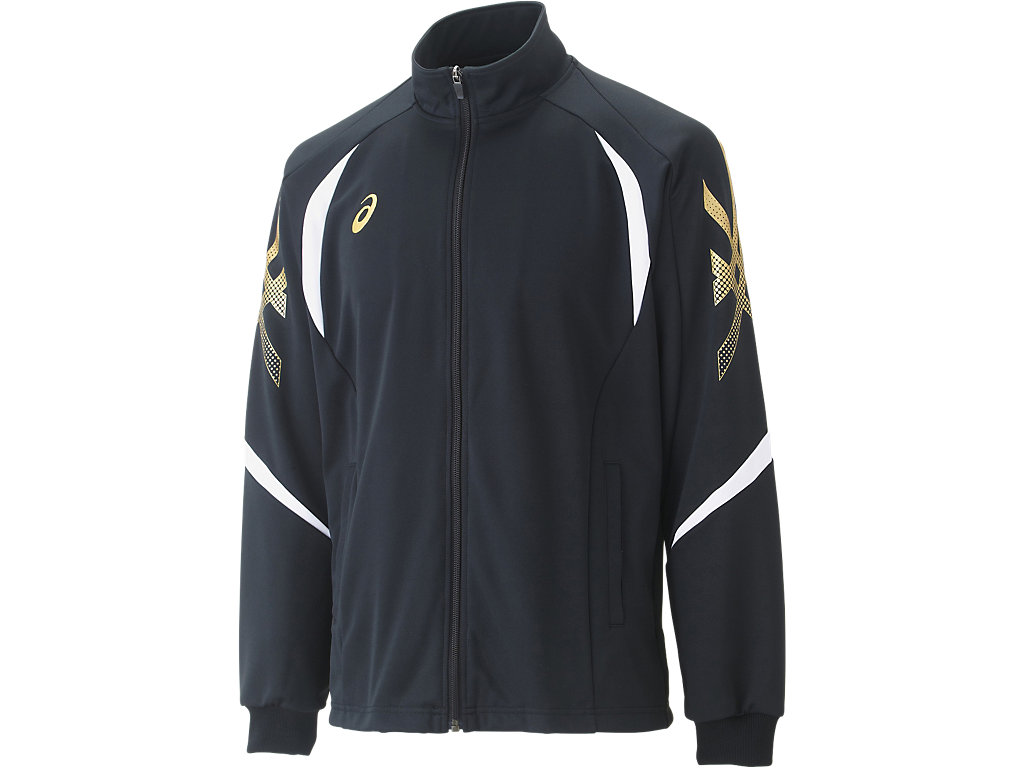 【ASICS/アシックス】 トレーニングジャケット ブラック_XAT176