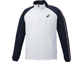 Alternative image view of トレーニングジャケット, ホワイト×ネイビー