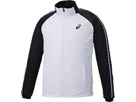 Alternative image view of トレーニングジャケット, ホワイト×ブラック