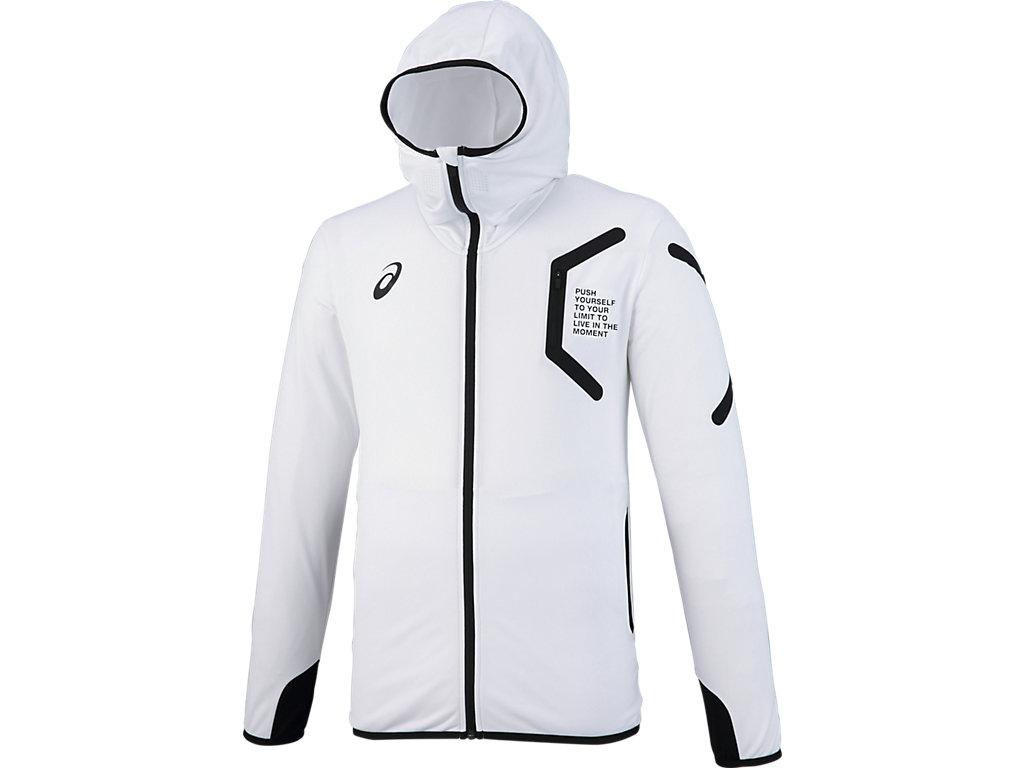 【ASICS/アシックス】 トレーニングフーデッドジャケット ホワイト メンズ_XAT302