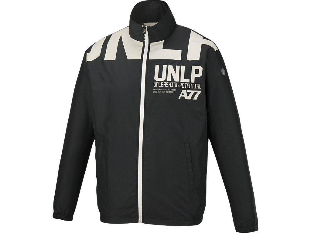 ウインドジャケット:ブラックxダークグレー