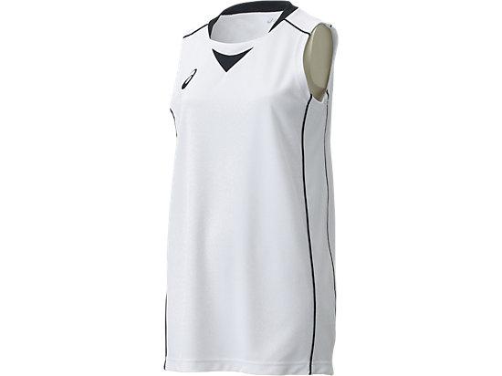 W'Sゲームシャツ, ホワイトxブラック