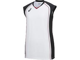 ウイメンズゲームシャツ, ホワイトXブラック