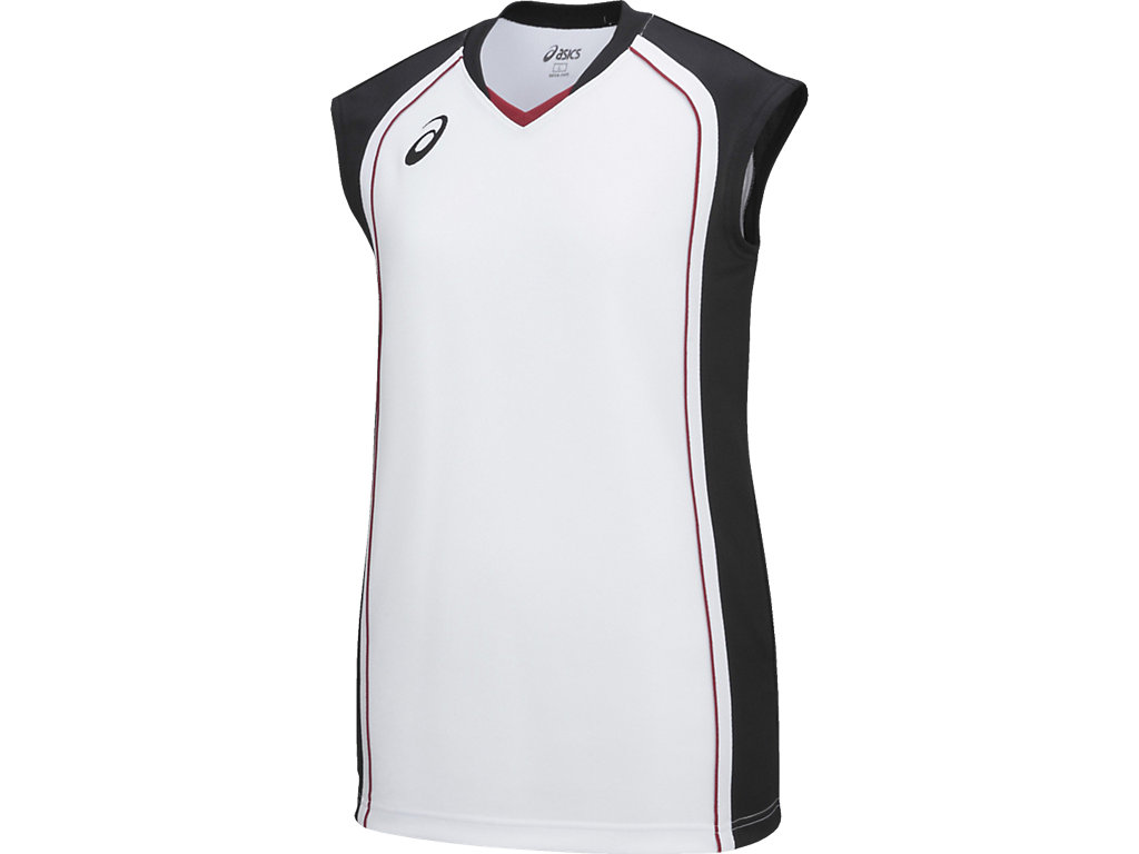【ASICS/アシックス】 W'Sゲームシャツ ホワイトxブラック レディース_XB2360