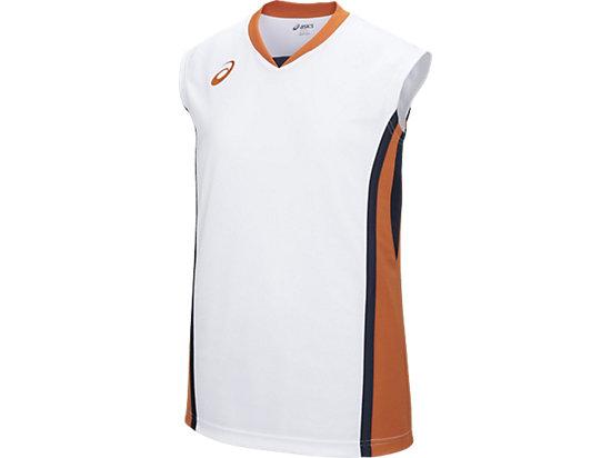 W'Sゲームシャツ, ホワイトxオレンジ