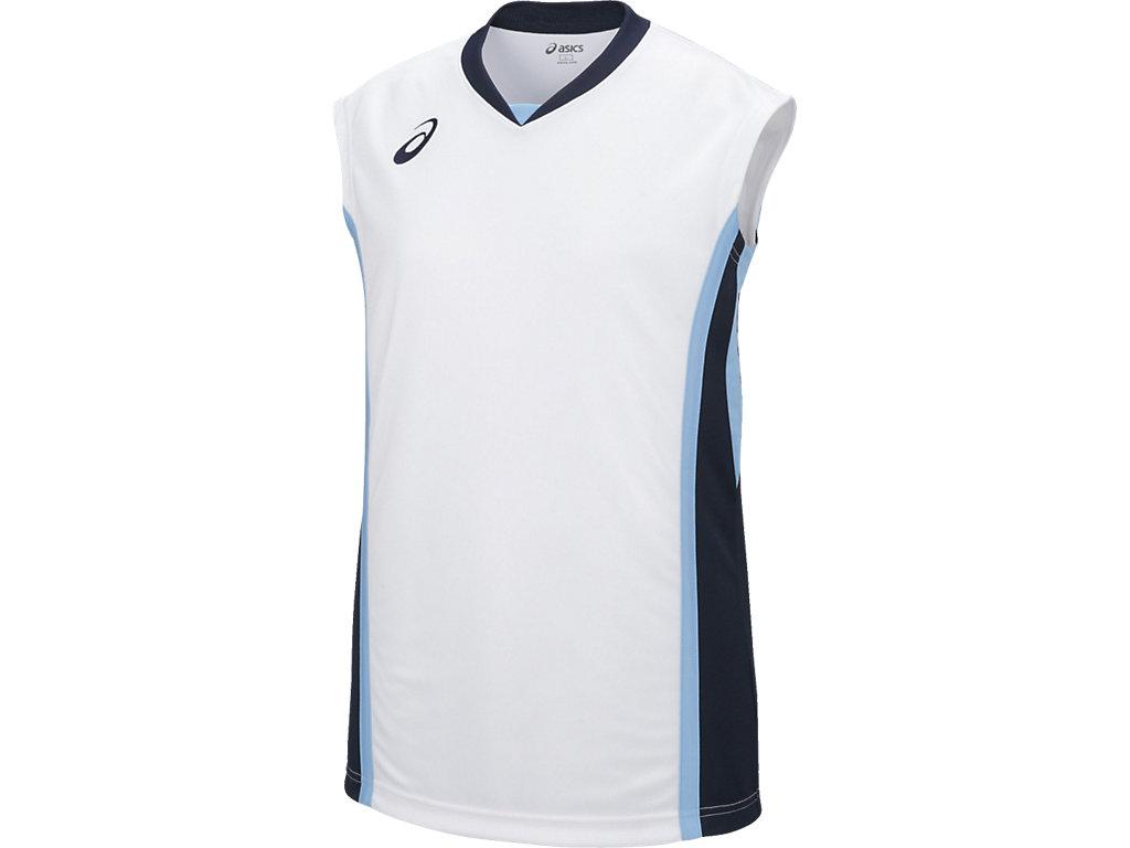 【ASICS/アシックス】 W'Sゲームシャツ ホワイトxネイビー レディース_XB2361