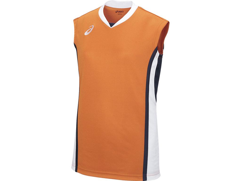 【ASICS/アシックス】 W'Sゲームシャツ オレンジxホワイト レディース_XB2361
