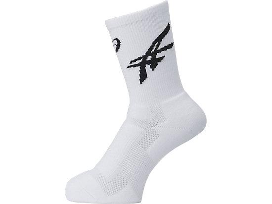 ソックス25, ホワイトxブラック