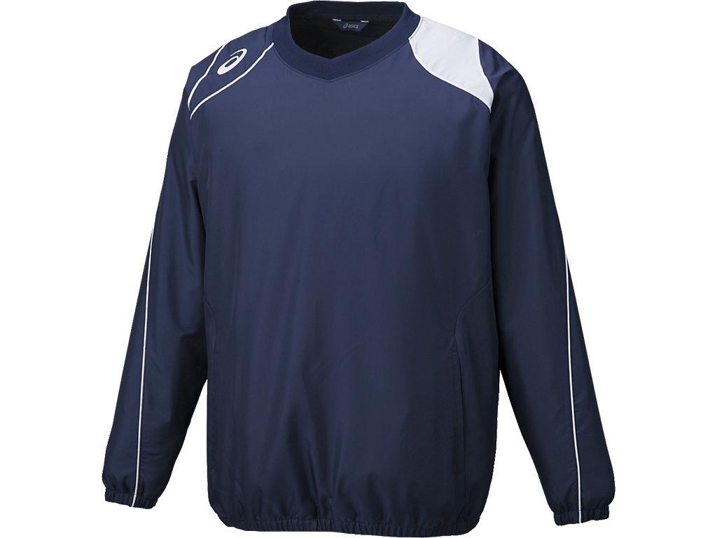 ウオームアップジャケット:ネイビー