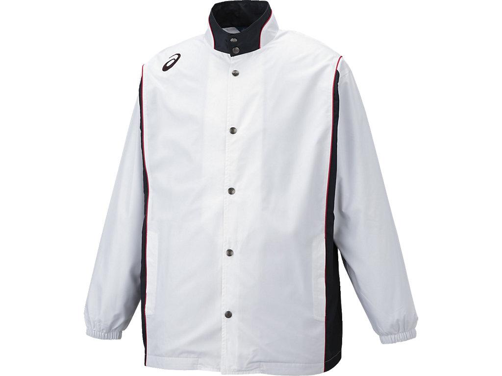 【ASICS/アシックス】 ウオームアップジャケット ホワイト_XBT161
