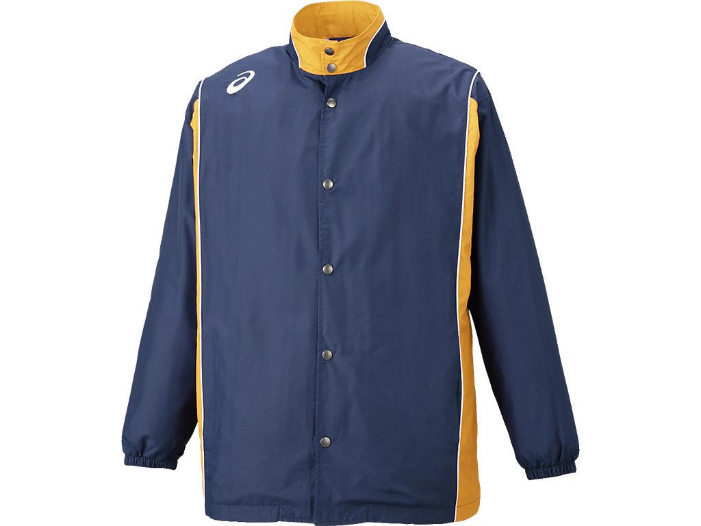 ウオームアップジャケット:ネイビーxゴールド