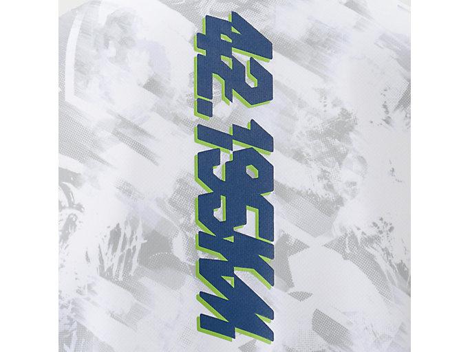 Alternative image view of ランニングショートスリーブトップ, ホワイト