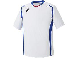 ゲームシャツHS, ホワイトxブルー