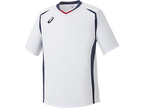 ゲームシャツHS, ホワイト×ネイビー