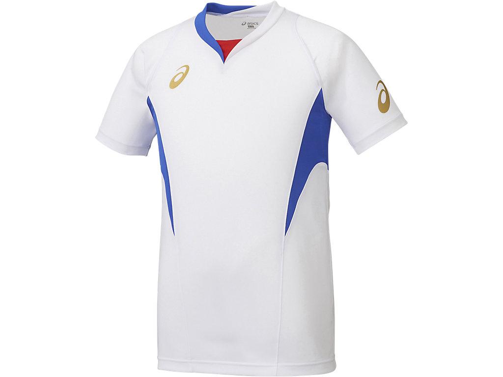 ゲームシャツHS:ホワイト×ブルー