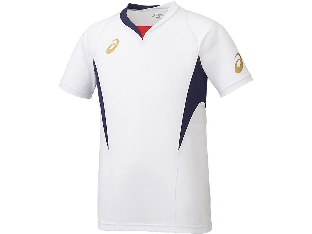ゲームシャツHS:ホワイト×ネイビー