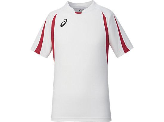 ゲームシャツHS, ホワイトxレッド