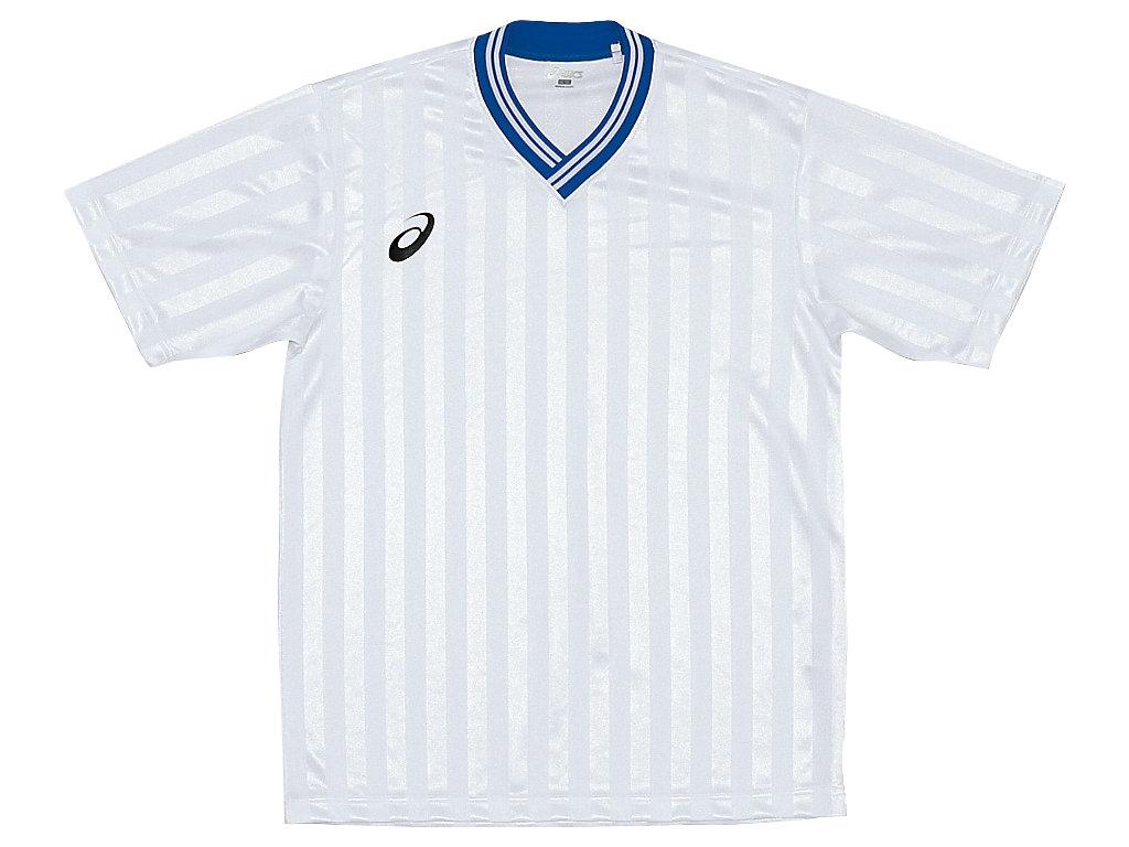 【ASICS/アシックス】 Jr.ゲームシャツHS ホワイトxブルー キッズ_XS3138