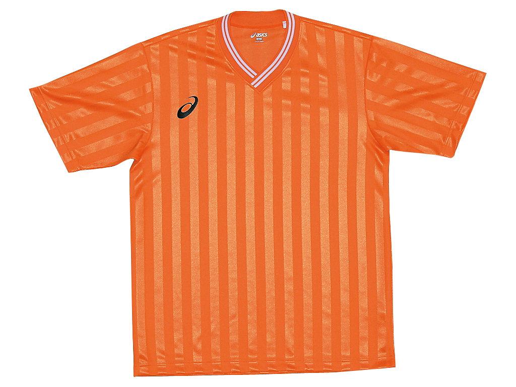 【ASICS/アシックス】 Jr.ゲームシャツHS オレンジ キッズ_XS3138