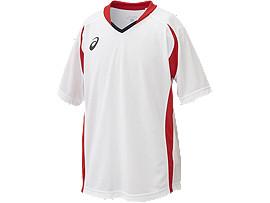 Jr.ゲームシャツHS, ホワイトxレッド