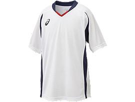 Jr.ゲームシャツHS, ホワイト×ネイビー