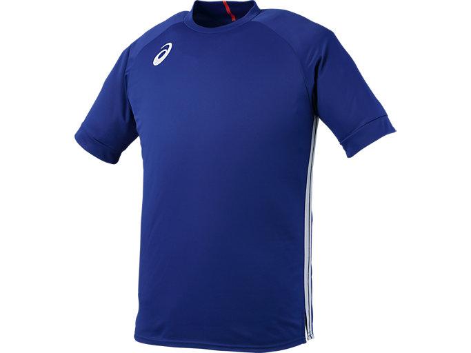 e4ef44cae737a2 チームプラクティスショートスリーブトップ | ブルー | メンズ Tシャツ ...