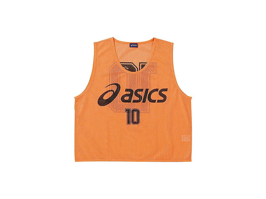 【ASICS/アシックス】 Jr.ビブス(10枚セット) フラッシュオレンジ キッズ_XSG062