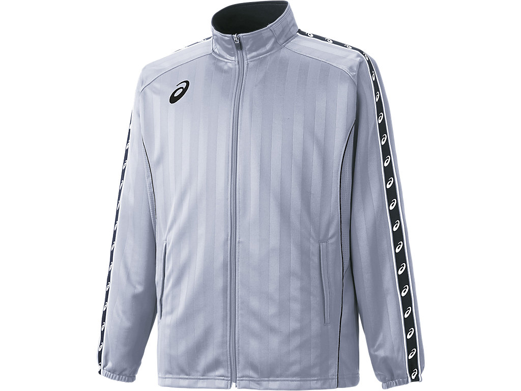 ウオームアップジャケット:ライトシルバー