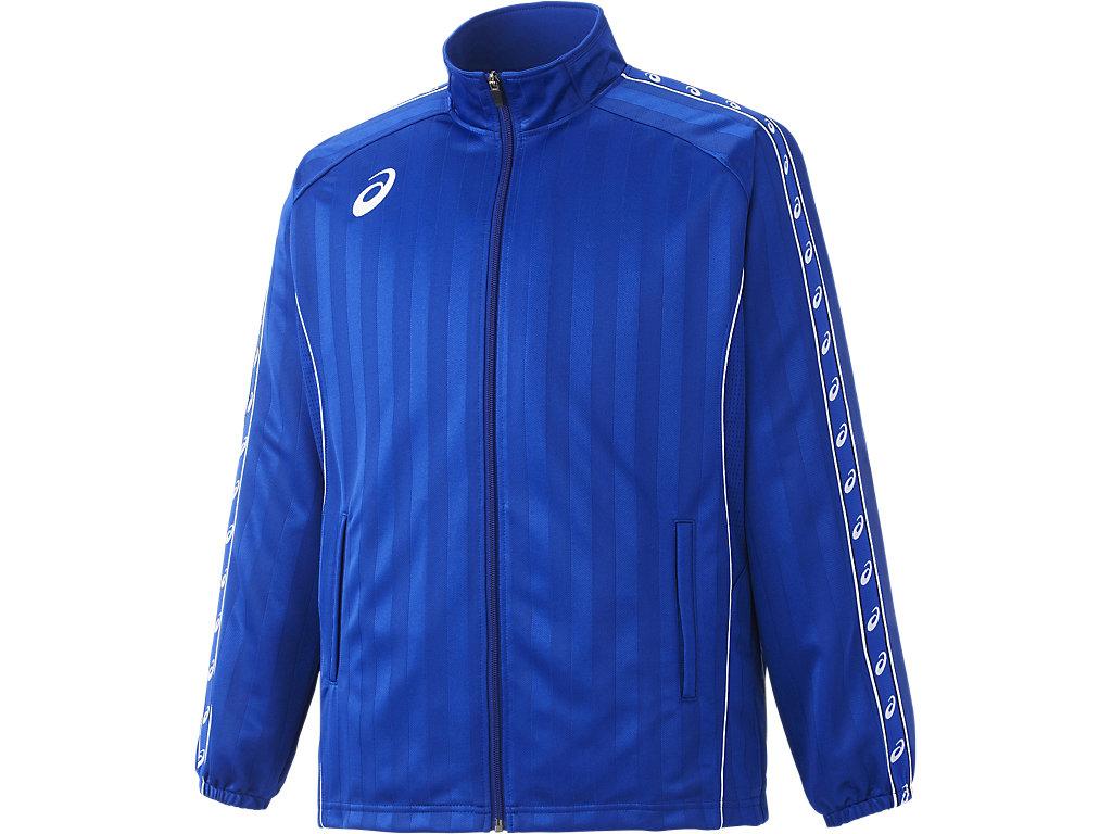 ウオームアップジャケット:ブルー